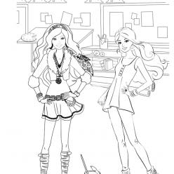 Раскраска для девочек «Барби художник», чтобы распечатать