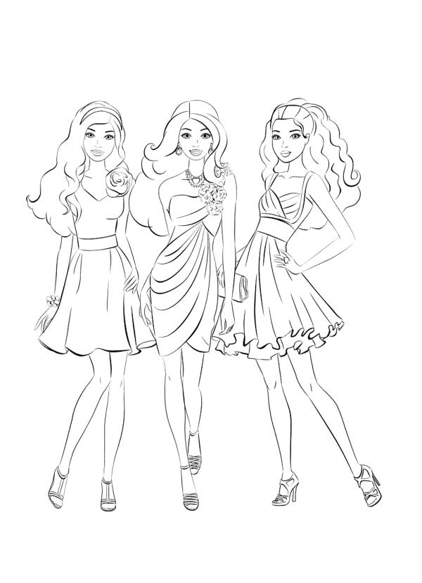 Подружки куклы Барби - Барби - Раскраски антистресс