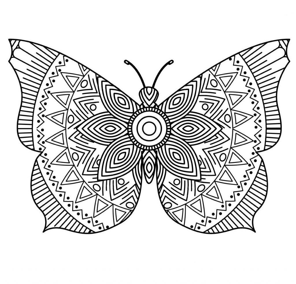 Раскраска арт терапия насекомые «Арт терапия бабочка», чтобы распечатать бесплатно