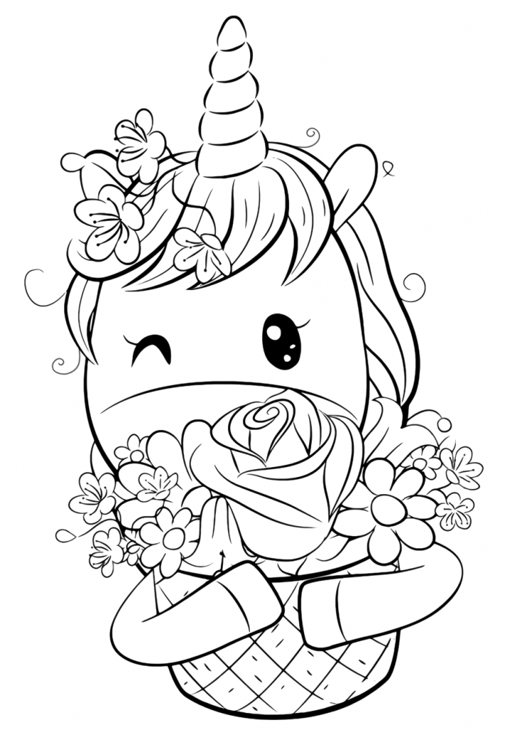 Раскраски для девочек «Милашки» Ежинорожка с подарком, чтобы бесплатно распечатать в хорошем качестве А4