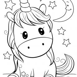 Раскраски для девочек «Милашки» Пупс Единорог, чтобы бесплатно распечатать в хорошем качестве А4