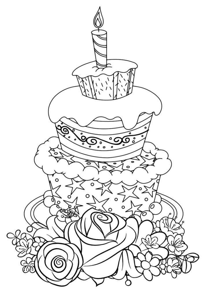 торт для детей милашки раскраски антистресс