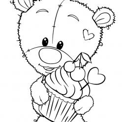 Раскраска медвежонок тедди, чтобы распечатать