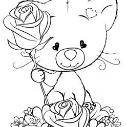 Раскраска для детей Милый кот, чтобы распечатать