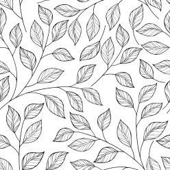 Раскраски антистресс «Много листьев», чтобы распечатать