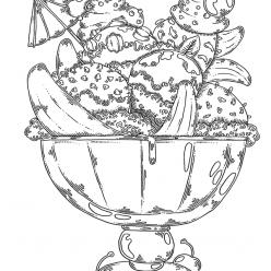 Раскраски антистресс Сладости «Шарики мороженое», чтобы распечатать