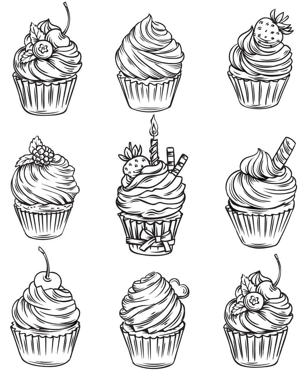 Пирожные картинки для распечатки
