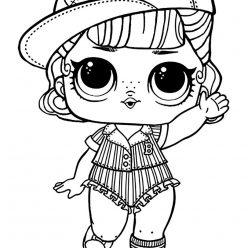 Раскраска кукла LOL «Пит Стоп», чтобы распечатать и раскрасить