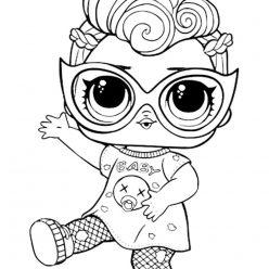 Раскраска кукла LOL Grunge Grrrl «Гранж», чтобы распечатать