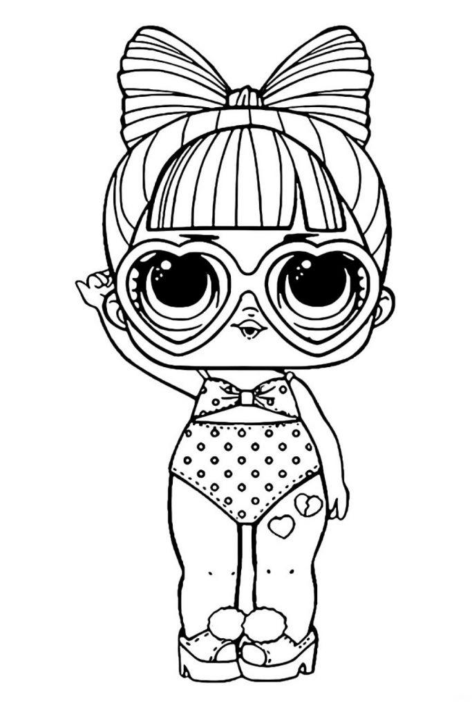 Раскраска кукла LOL SPF QT, чтобы распечатать и раскрасить