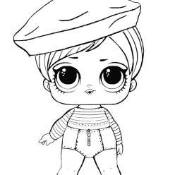 Раскраски «кукла ЛОЛ» Хипстер, чтобы бесплатно распечатать и раскрасить онлайн