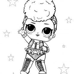 Раскраски «кукла ЛОЛ» Королева дня независимости Independent Queen, чтобы бесплатно распечатать и раскрасить онлайн