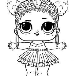 Раскраски «кукла ЛОЛ» фиолетовая королева, чтобы бесплатно распечатать и раскрасить онлайн