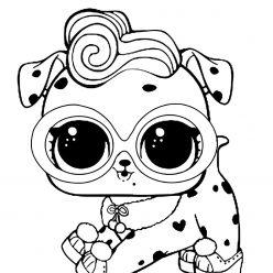 Раскраски «кукла ЛОЛ» питомец долматинец, чтобы бесплатно распечатать