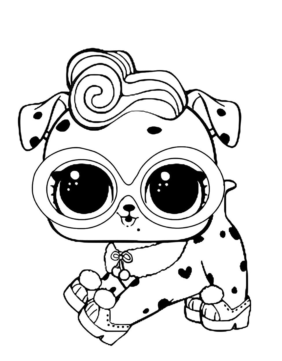 Кукла ЛОЛ долматинец - Куклы LOL - Раскраски антистресс