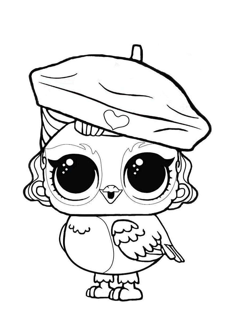 Кукла ЛОЛ сова - Куклы LOL - Раскраски антистресс