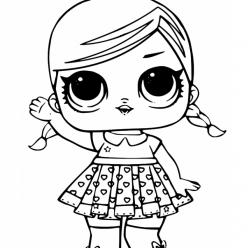 Раскраска Кукла ЛОЛ с косичками, чтобы распечатать