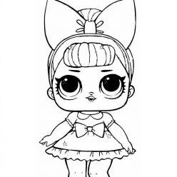 Раскраска Кукла ЛОЛ настоящая леди, чтобы распечатать