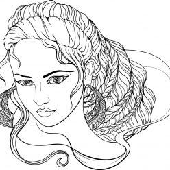 Раскраска люди и лица «Греческая богиня», чтобы распечатать