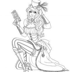 Раскраски для девочек Harpy Queen Королева гарпий, чтобы бесплатно распечатать