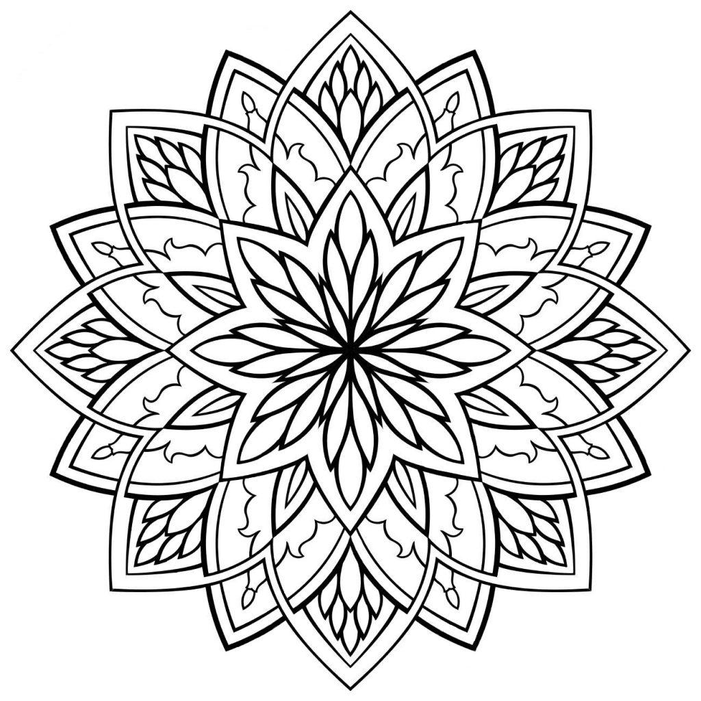Раскраска Мандала желаний, чтобы распечатать