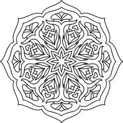 Раскраска Мандала арт терапия, чтобы распечатать