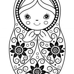 Раскраска Матрешка для детей, чтобы распечатать