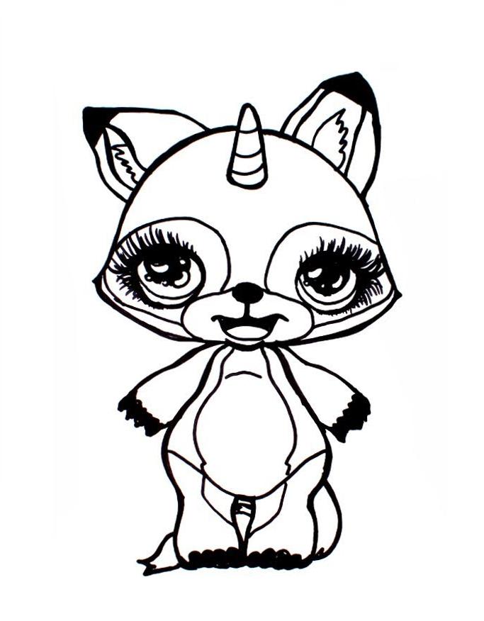 Раскраска «Poopsie» сверкающие зверята, чтобы распечатать