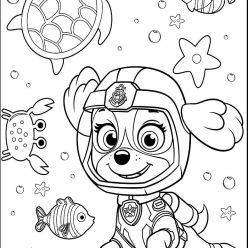 Раскраска мультфильм Щенячий патруль Скай, чтобы распечатать