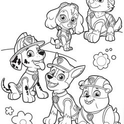 Раскраска мультфильм Эверест и щенячий патруль, чтобы распечатать