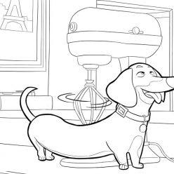 Картинки из мультфильма «Тайная жизнь домашних животных» такса Бадди, чтобы бесплатно распечатать