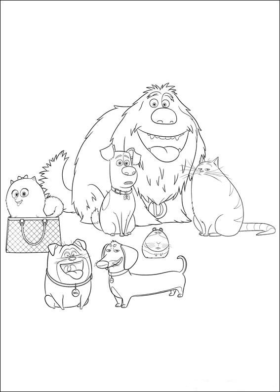 Картинки все герои из мультфильма «Тайная жизнь домашних животных», чтобы бесплатно распечатать