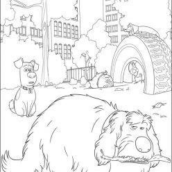 Картинки из мультфильма «Тайная жизнь домашних животных» ньюфаундленд Дюк, чтобы бесплатно распечатать