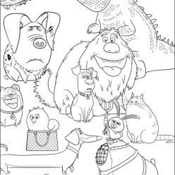 Картинки из мультфильма «Тайная жизнь домашних животных», чтобы бесплатно распечатать