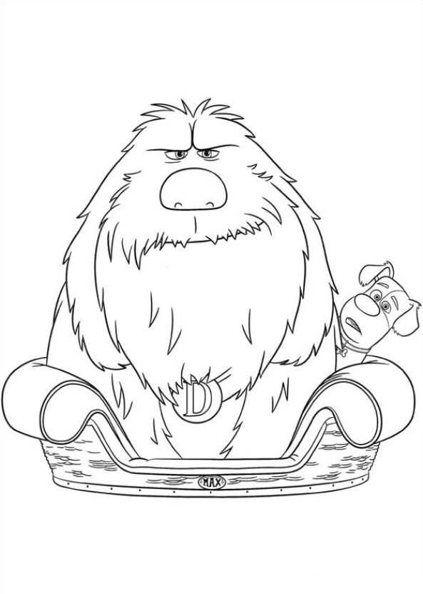 Картинки Макс и Дюк из мультфильма «Тайная жизнь домашних животных», чтобы бесплатно распечатать