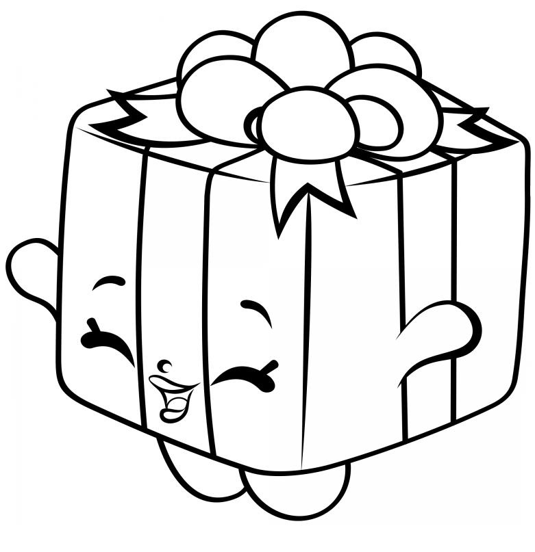 Раскраска «Шопкинс Подарок», чтобы распечатать