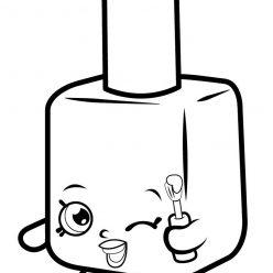 Раскраска «Шопкинс Лак для ногтей», чтобы распечатать