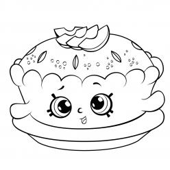 Раскраска «Шопкинс Пирог», чтобы распечатать