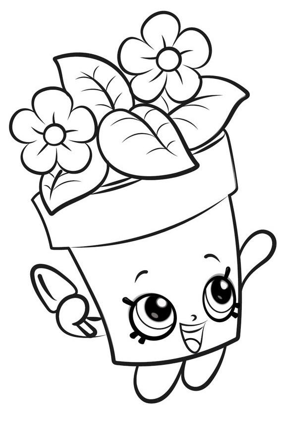 Раскраска «Шопкинс цветы», чтобы распечатать