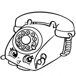 Раскраска «Шопкинс Телефон», чтобы распечатать