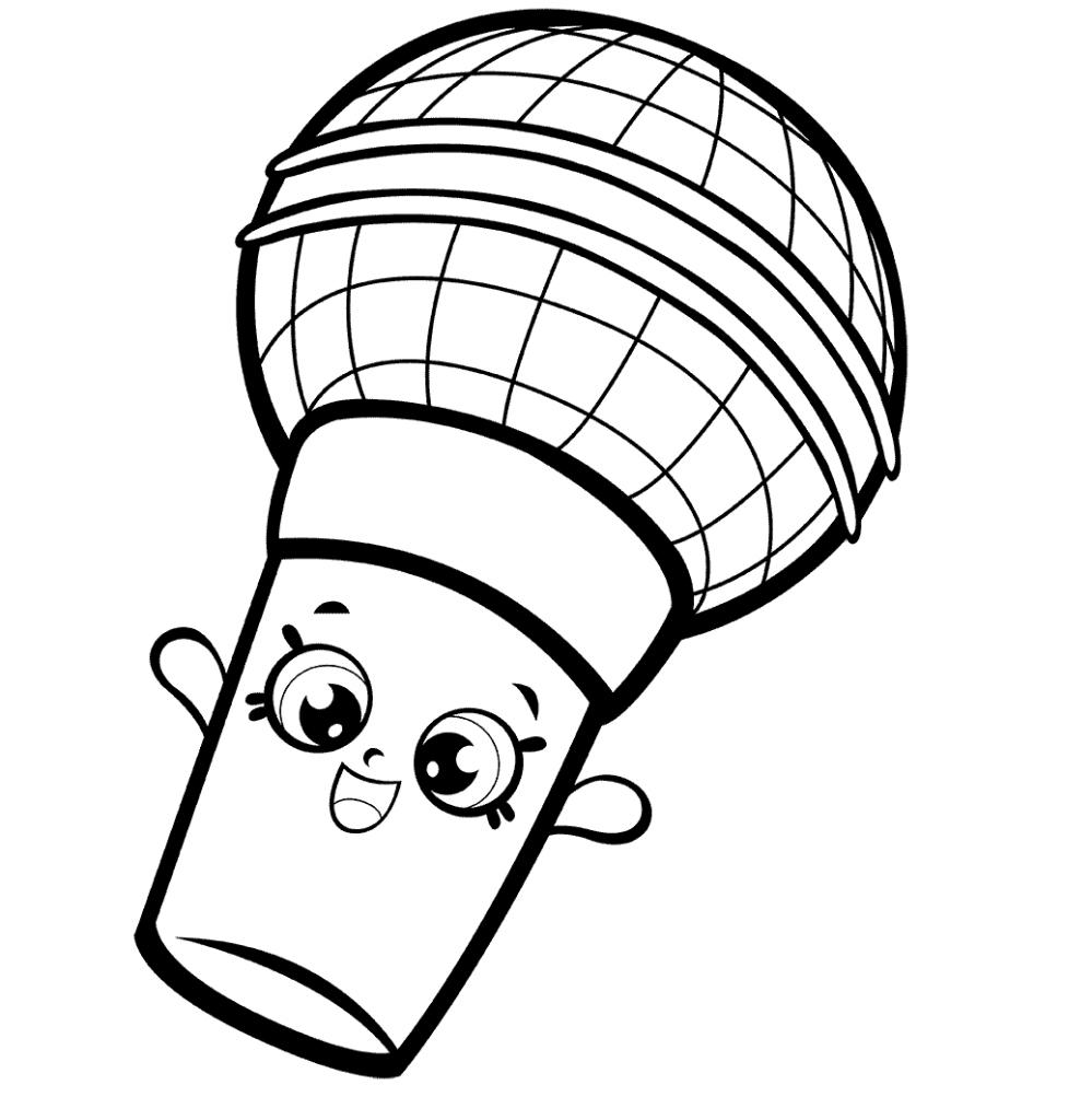 Раскраска «Шопкинс Микрофон», чтобы распечатать