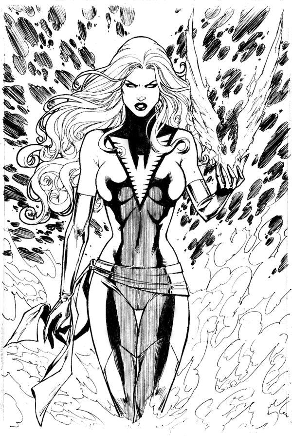 тёмный феникс марвел супергерои марвел раскраски антистресс