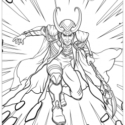 Раскраски для мальчиков Марвел Мстители «Локи Loki» queen bee пчелка, чтобы бесплатно распечатать и раскрасить