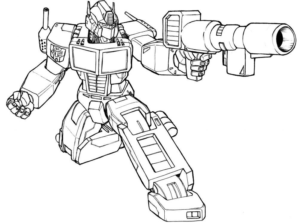 Раскраска «Трансформеры» Оптимус Прайм, чтобы распечатать