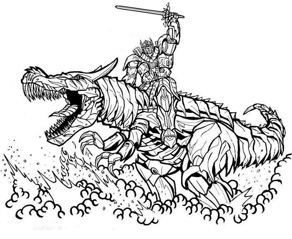 новый трансформер дракон трансформеры раскраски антистресс