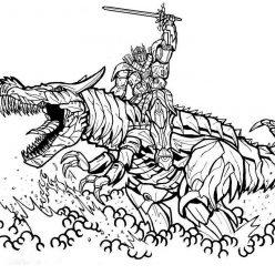 Раскраска «Трансформеры» Новый трансформер дракон, чтобы распечатать