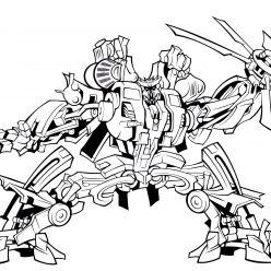 Раскраска «Трансформеры» Десептикон Блэкаут, чтобы распечатать