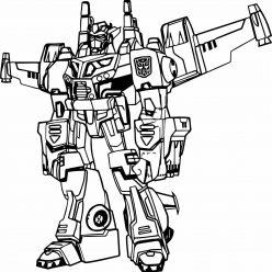 Раскраска «Трансформеры» Трансформер Истребитель Джетфайер, чтобы распечатать