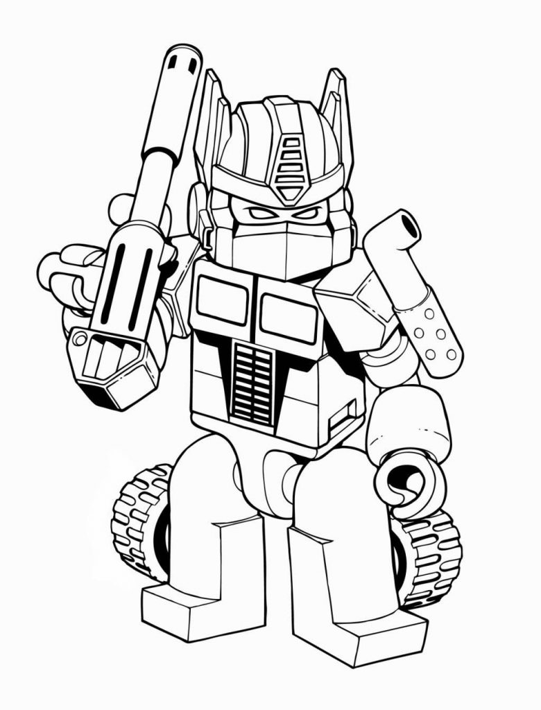 Раскраска «Трансформеры» Лего Трансформер, чтобы распечатать