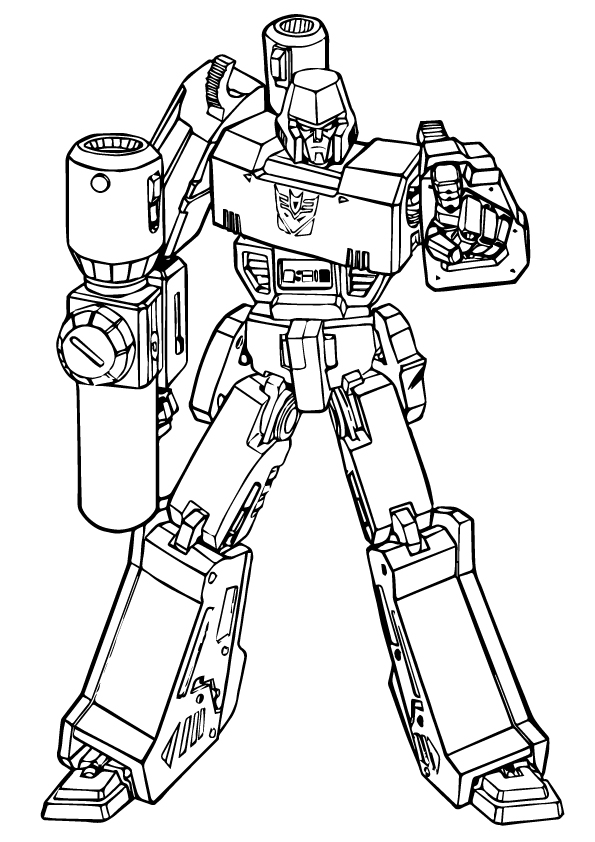 Раскраска «Трансформер» Робот, чтобы распечатать